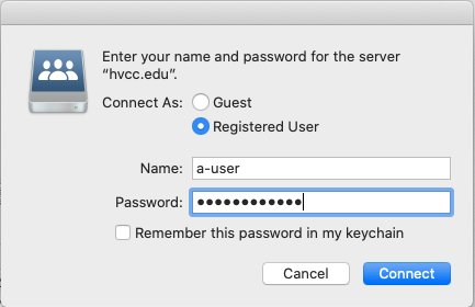 Enter your username and password