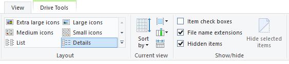 Windows Explorer View Options