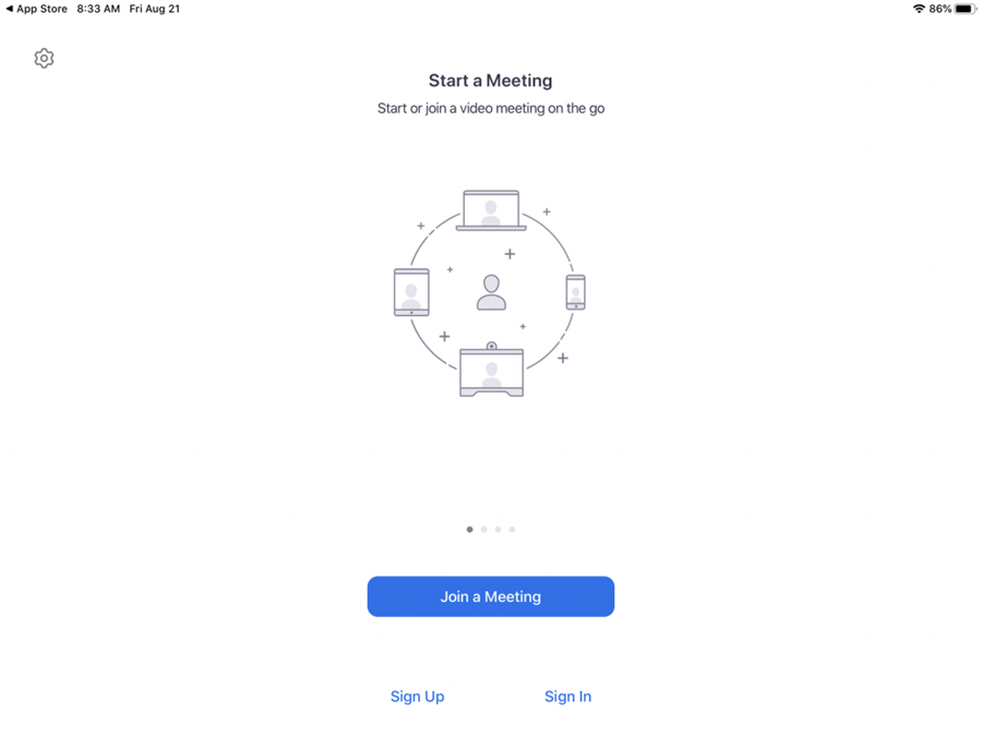 Launch Zoom and Select Sign-In