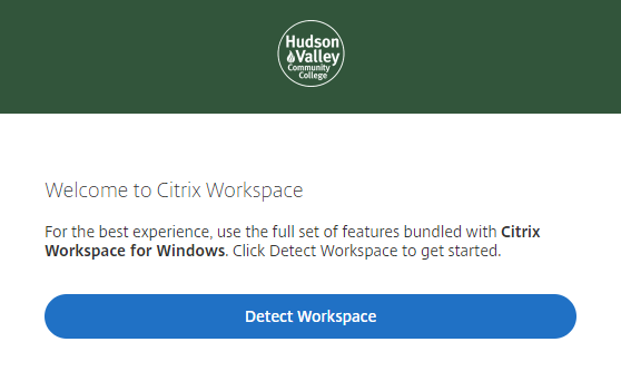 Click detect workplace