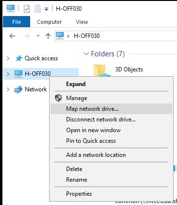 Windows Explorer Screen